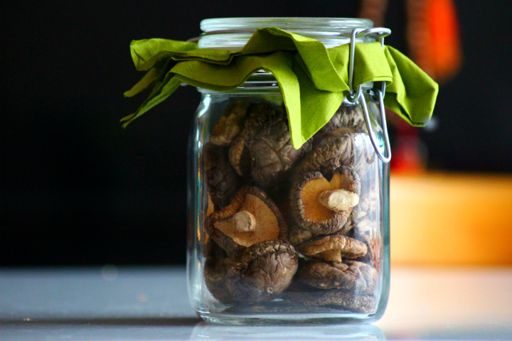 Shitake in the jar